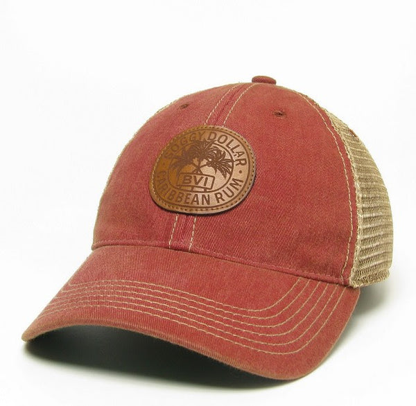 Rum Stamp Leather Patch Trucker Hat