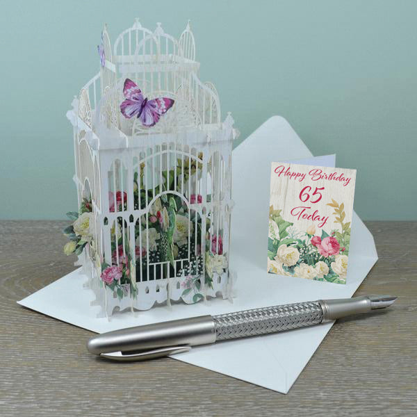 65th 3D Pop Up Birthday Card
