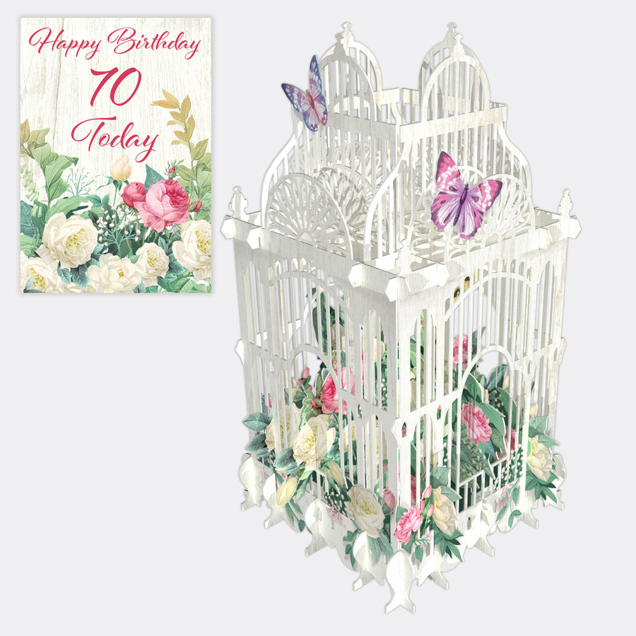 70 Today 3D Pop Up Birthday Card