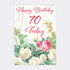 """70 Today Flower Cage"" - 3D Pop Up Greetings Card"