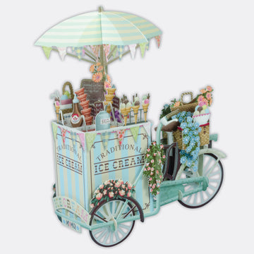 Ice Cream Vendor 3D POP UP Card