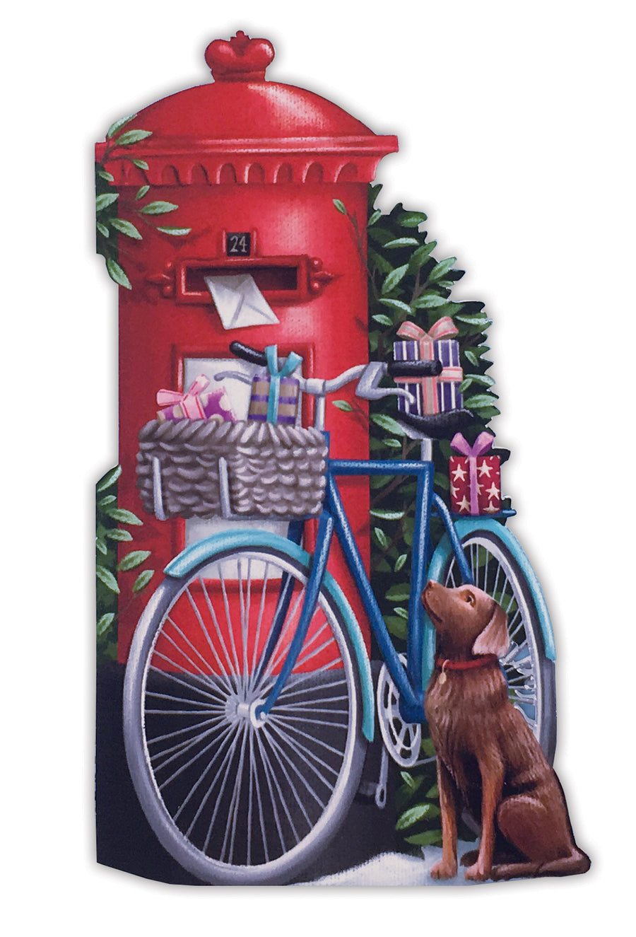 Birthday Postman and the Dog came too - 3D Pop Up Greetings Card
