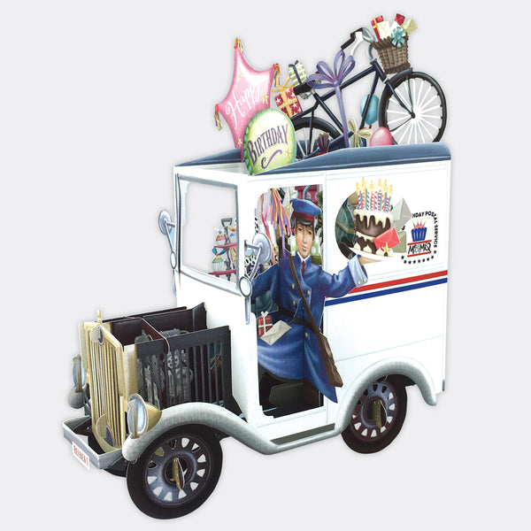 USA Post Truck 3D POP UP Card
