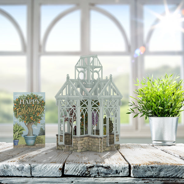 """The Glass House - Father's Day"" - 3D Pop Up Greetings Card"