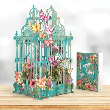 Tropical Cage 3D Pop Up Card