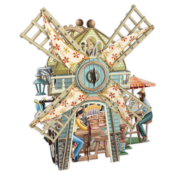 """The Windmill Tea Shop"" - 3D Pop Up Greetings Card"