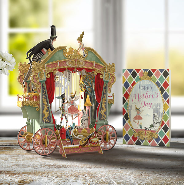 """Mother's Day Puppet Theatre"" - 3D Pop Up Greetings Card"