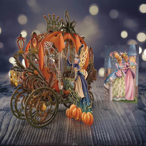 """Cinderella's Carriage"" - 3D Pop Up Greetings Card"