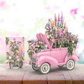 """The Pink Flower Car"" - 3D Pop Up Greetings Card"