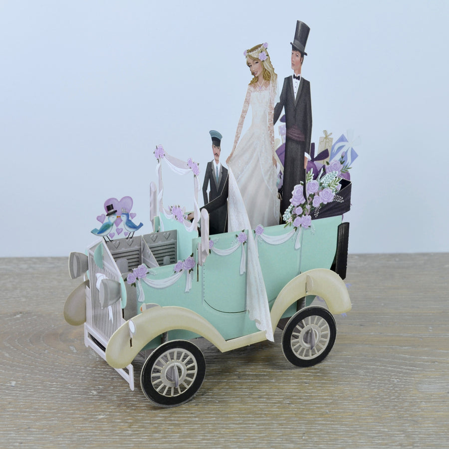 """The Wedding Car"" - 3D Pop Up Greetings Card"