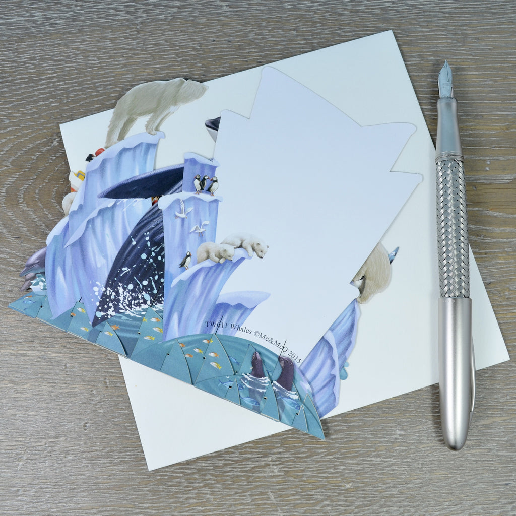 Whales 3d pop up greeting card memcq whales top of the world pop up greetings card m4hsunfo