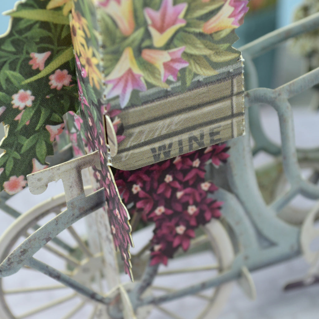 """The Flower Seller's Bicycle"" - 3D Pop Up Greetings Card"