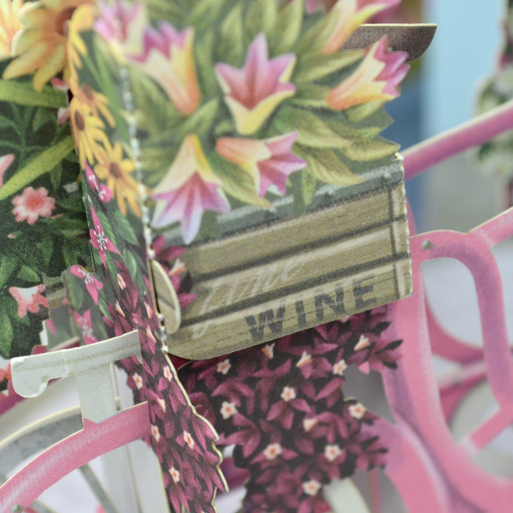 """Mother's Day - The Flower Seller's Bicycle"" - 3D Pop Up Greetings Card"