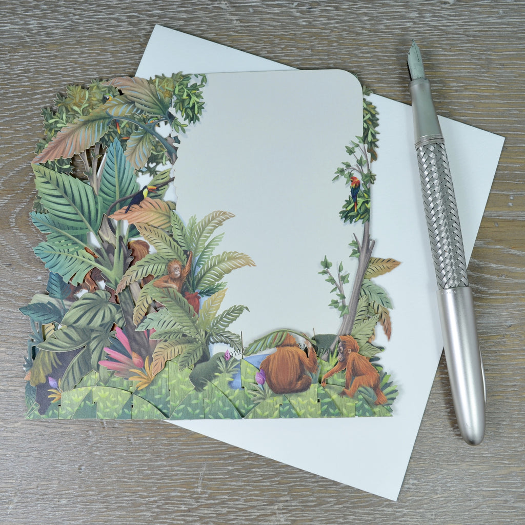 """The Orangutans"" - Top of the World Pop Up Greetings Card"