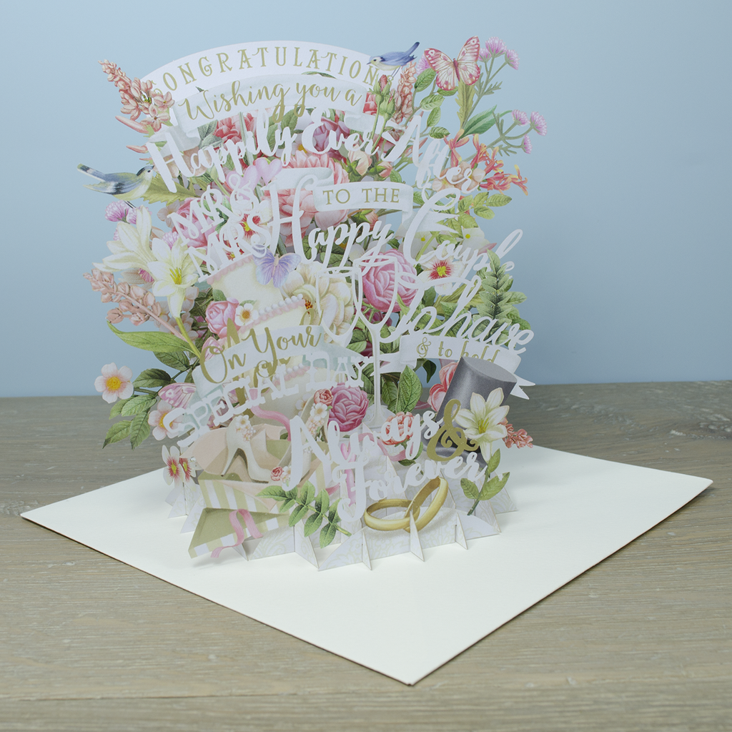"""Wedding"" - Top of the World Pop Up Greetings Card"
