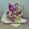 """Live, Love & Laugh"" - Top of the World Pop Up Greetings Card"