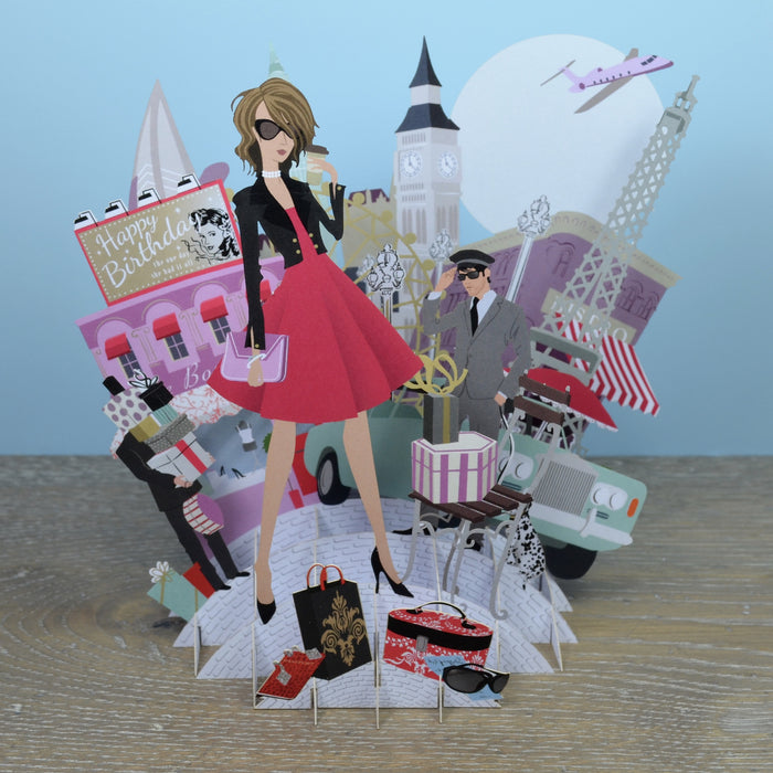 """It's A Woman's World"" - Top of the World Pop Up Greetings Card"