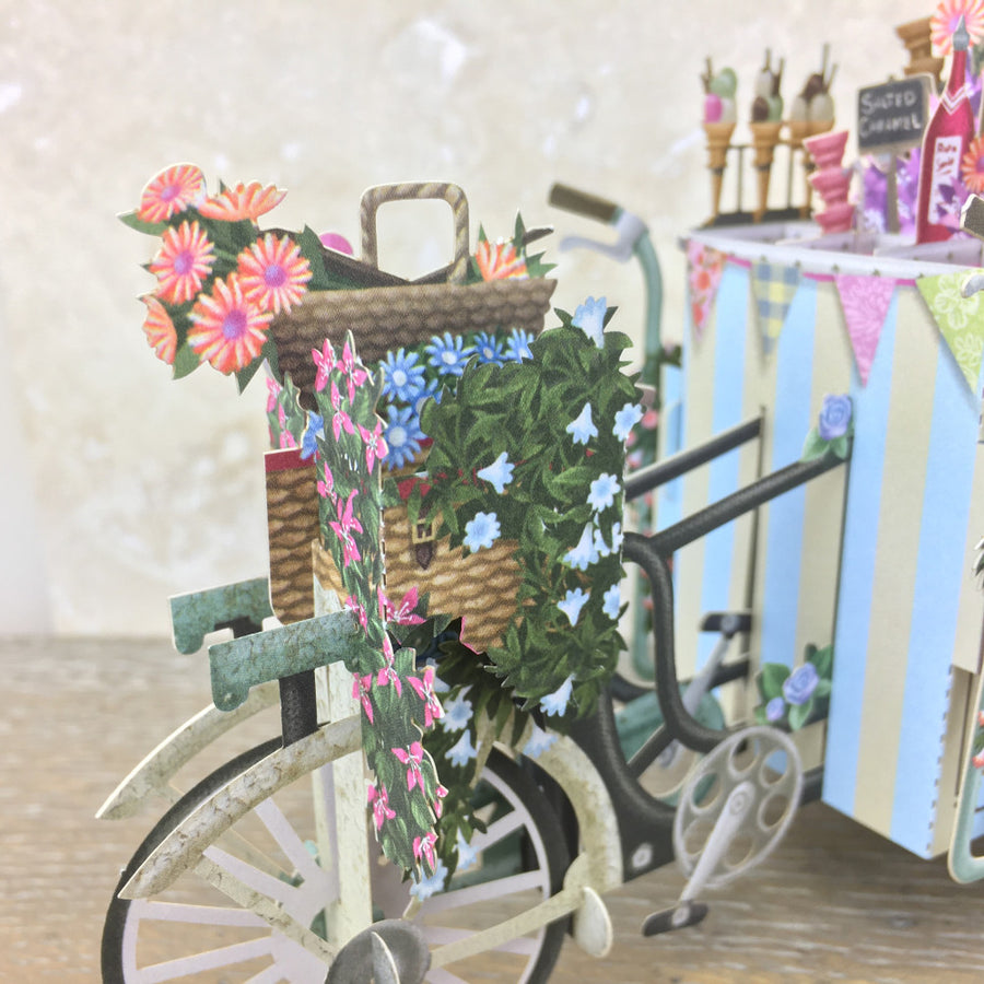 The Ice-cream Vendor - 3D Pop Up Greetings Card