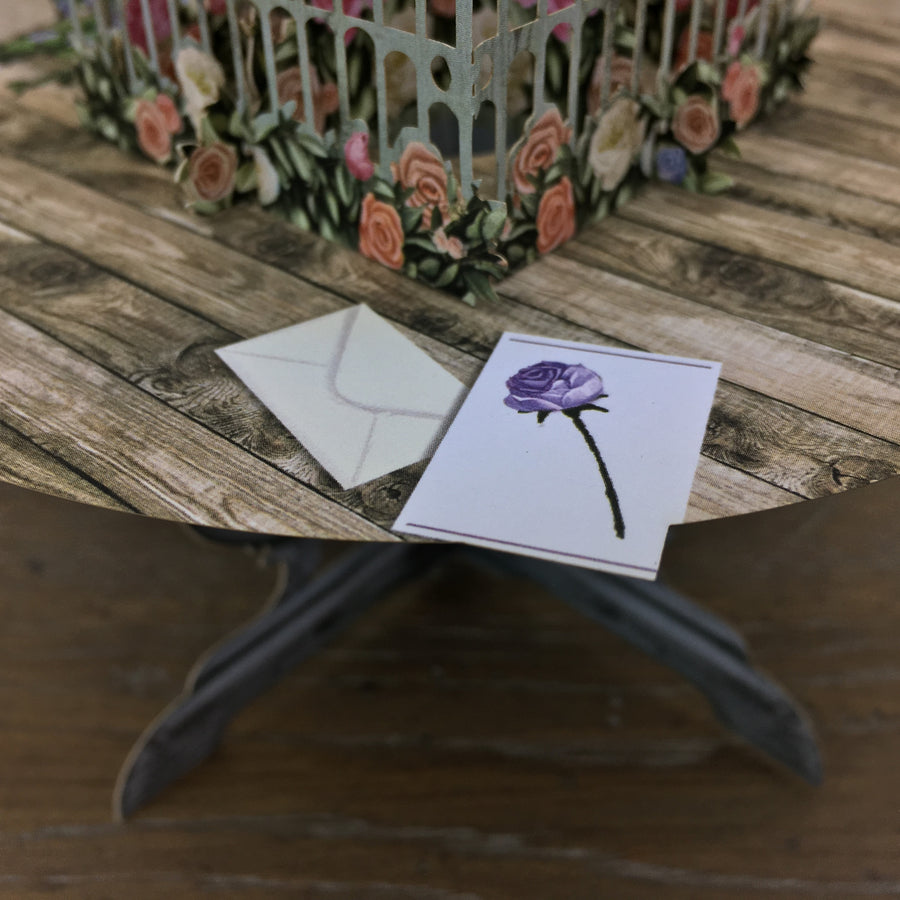 Roses on the Table - 3D Pop Up Greetings Card