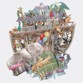 """Noah's Ark"" - Top of the World Pop Up Greetings Card"