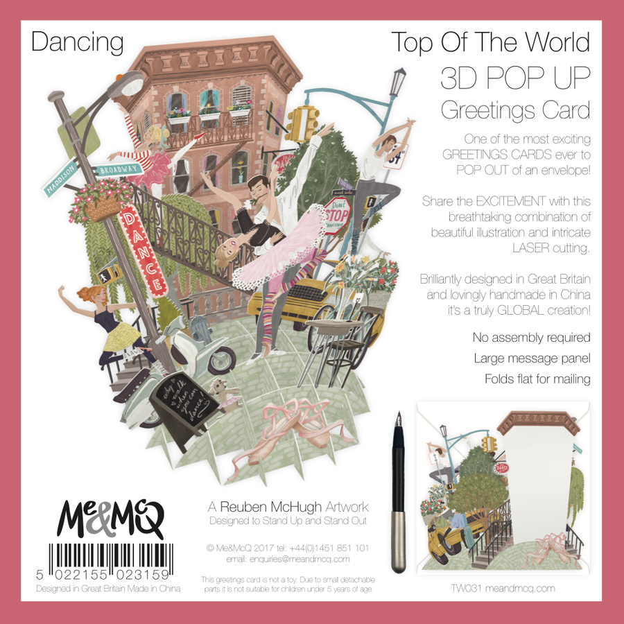 Dancing Pop Up Greetings Card