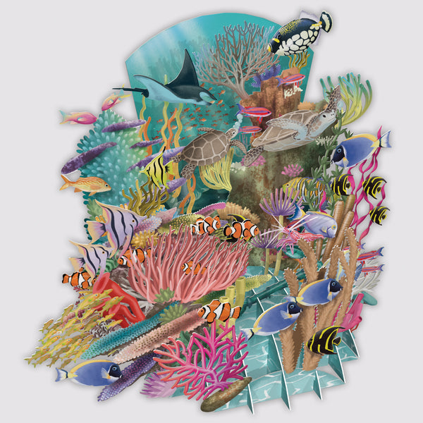 Coral Reef 3D Pop Up Greeting Card