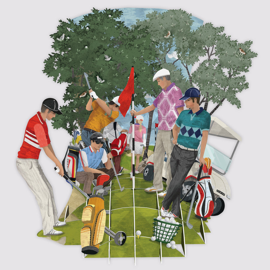 3D Pop Up Golf World Card | Me&McQ