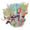 """60 Today Yoga World"" - Top of the World Pop Up Greetings Card"
