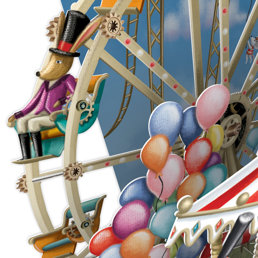 Carousel Capers - Top of the World Pop Up Greetings Card