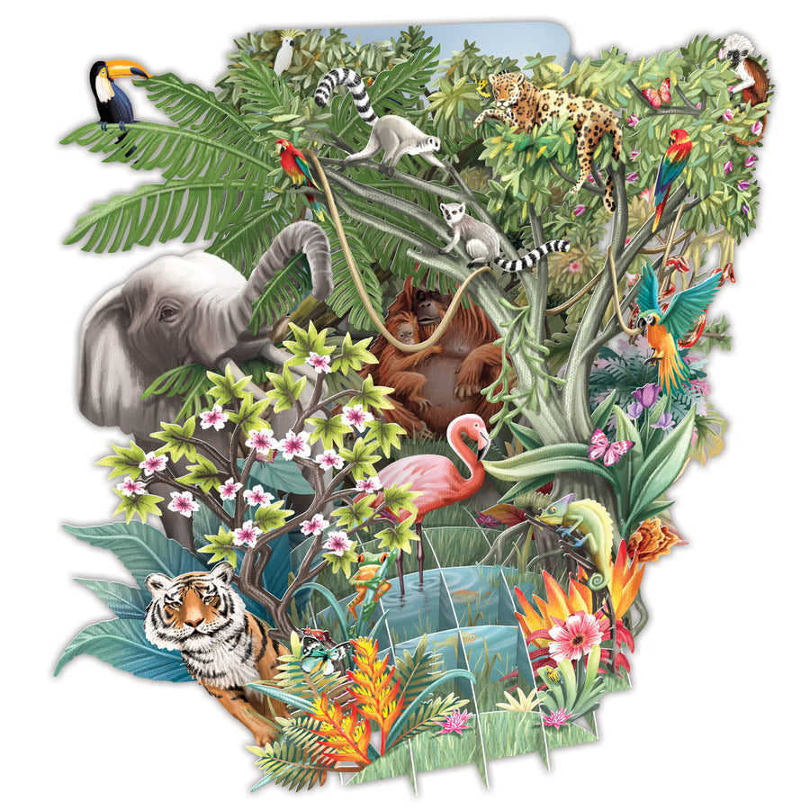 The Jungle - Top of the World Pop Up Greetings Card