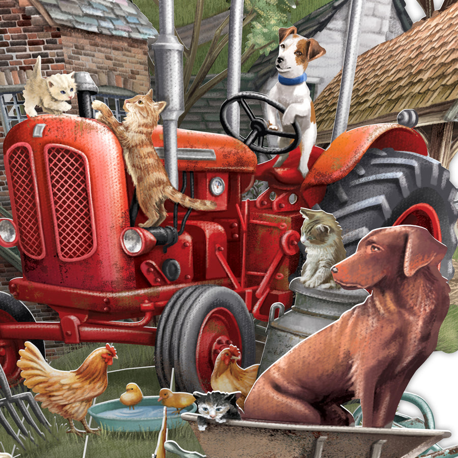 The Farmyard - Top of the World Pop Up Greetings Card