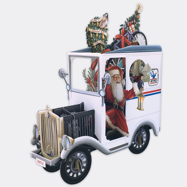 Santa's Truck Pop Up Card USA