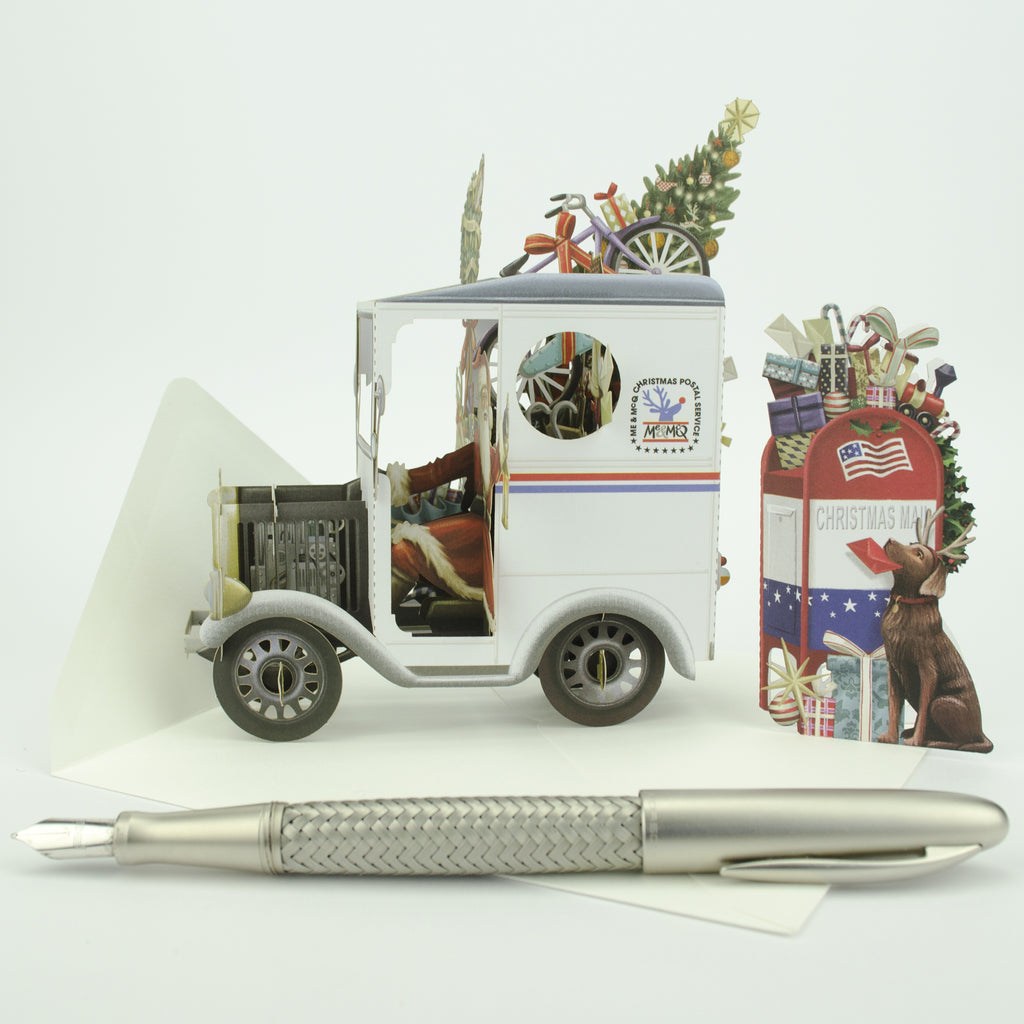 """USA Postal Truck"" - 3D Pop Up Christmas Card"
