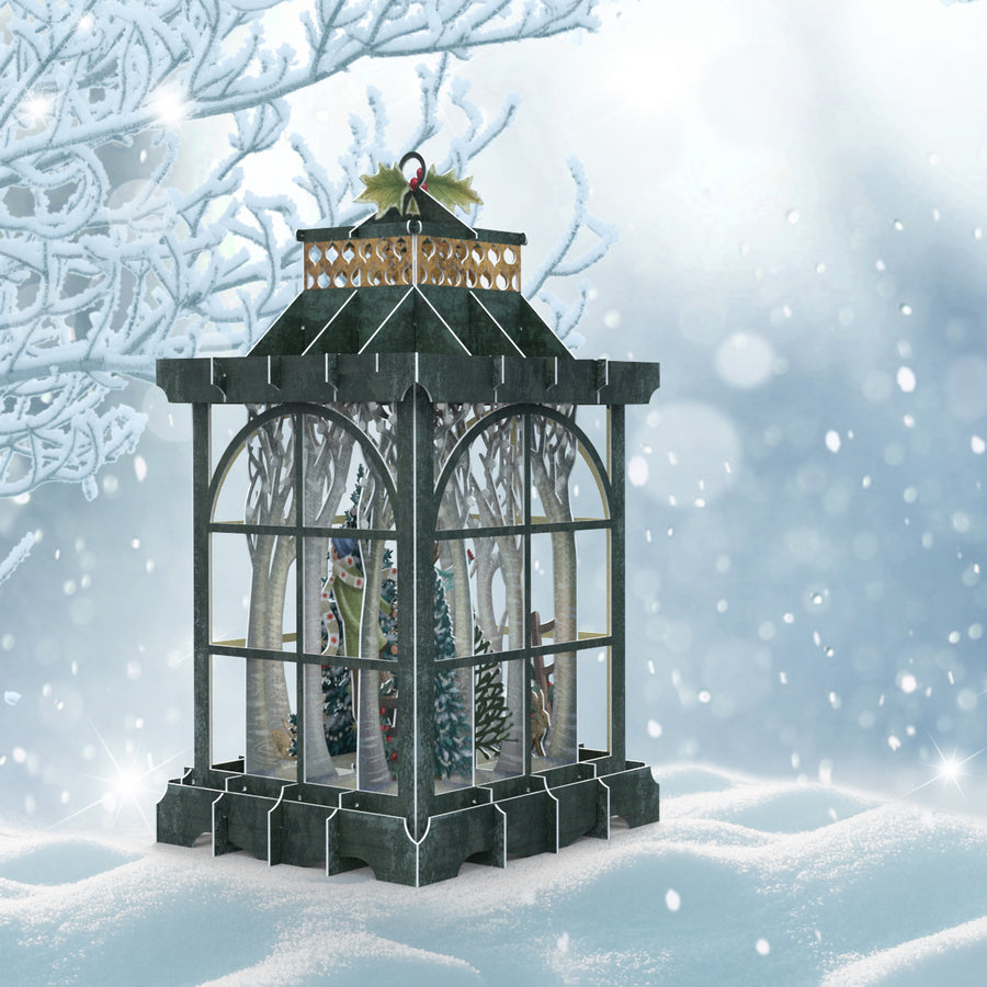 Lantern 3D Pop Up Christmas Card by Me&McQ