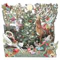 """Forest Fairies"" - Zig-Zag Pop Up Christmas Card"
