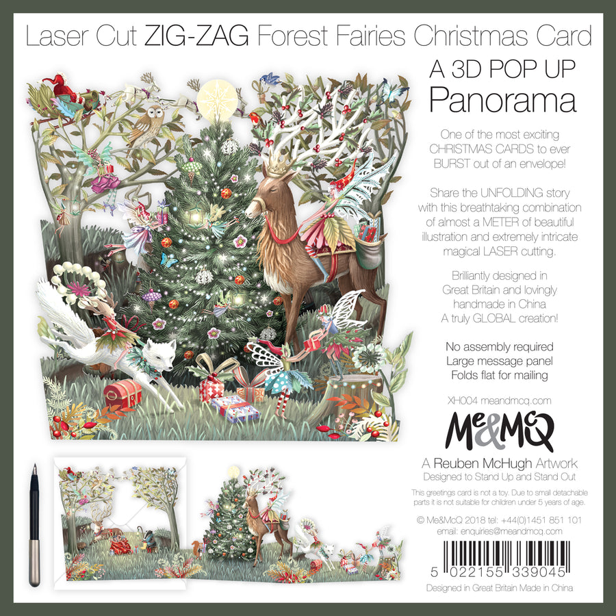 Forest Fairies - Zig Zag 3D Christmas Cards | Me&McQ
