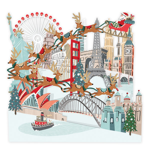 Around the Zig Zag Pop Up Christmas Card