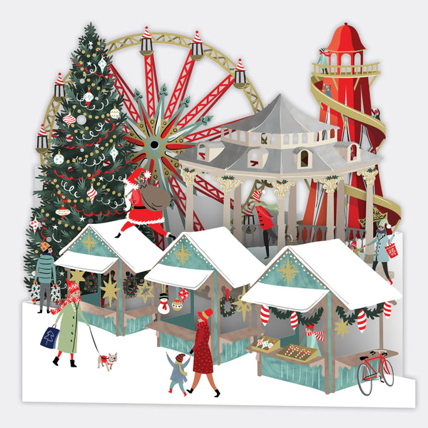 """Winter Wonderland"" - Zig-Zag Pop Up Christmas Card 