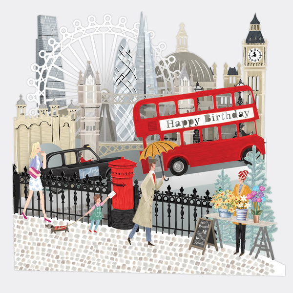 """London"" - Zig-Zag Birthday Card"