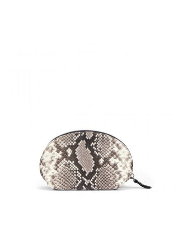 'AGL' Sankeskin-Print Clutch Bag in Fog