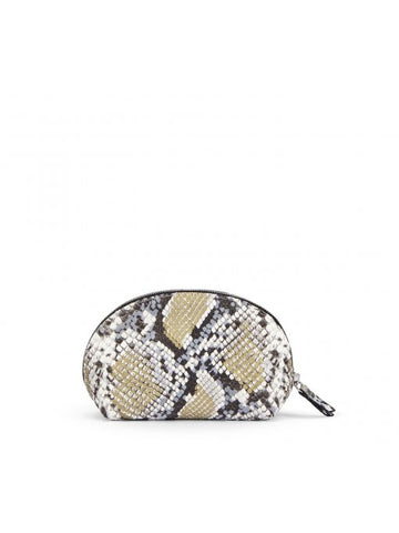 'AGL' Snakeskin-Print Clutch Bag in Oslo