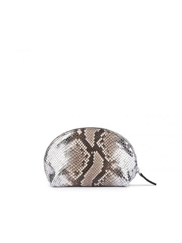 'AGL' Snakeskin-Print Clutch Bag in Meilland