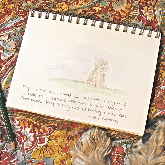Art Journal and Dog Quote