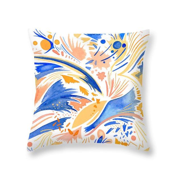 Coral Sky throw pillow