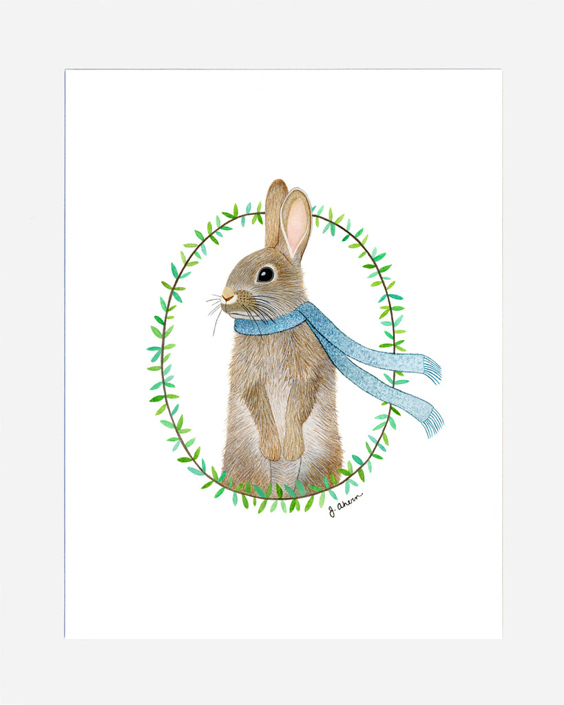 Cozy Rabbit watercolor