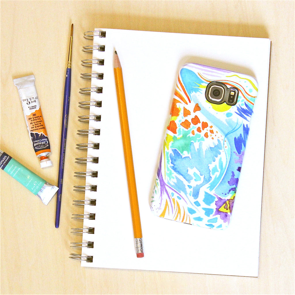 Watercolor cell phone case