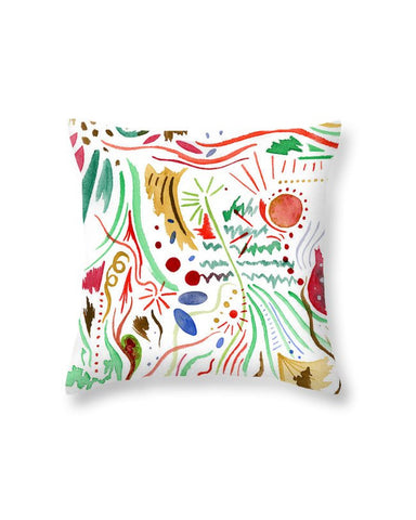 """December Hustle and Bustle"" Throw Pillow"