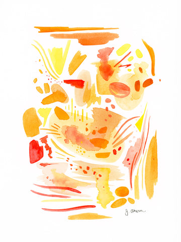Abstract Study in Orange