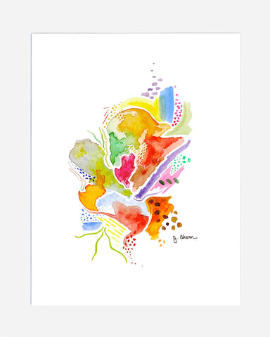 Colorful Abstract Print