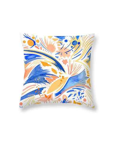 """Coral Sky"" Throw Pillow"